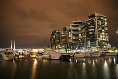 Luxurious Apartments. Luxurious Apartment Buildings at night stock images