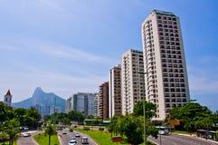 Apartment BUildings. Luxurious Apartments in Sao Conrado, Rio de Janeiro Royalty Free Stock Photo