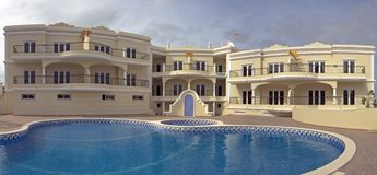 Luxurious appartments with swimmingpool Stock Images