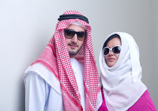 Luxurious arabian couple posing Stock Photo