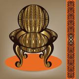 Luxurious Arabian Handcrafted Armchair Royalty Free Stock Photos