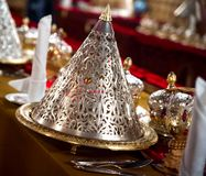 Luxurious Arabic restaurant Stock Photography