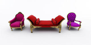 Luxurious armchair Royalty Free Stock Photo