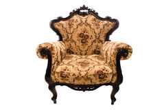 Luxurious armchair. With floral design on a white background Royalty Free Stock Photo