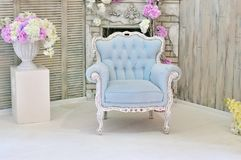 Luxurious armchair in room royalty free stock photography