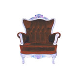 Luxurious armchair home with cliping part Royalty Free Stock Photo