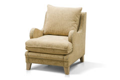 Luxurious armchair. Isolated on white background Royalty Free Stock Photo