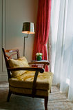 Luxurious armchair of a suite room Royalty Free Stock Images