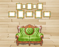 Luxurious armchair and vintage frame Stock Photo
