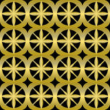 Luxurious background tile with golden 3d patterns on black background. Royalty Free Stock Photos