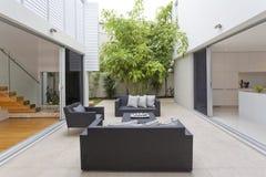Luxurious backyard royalty free stock photo