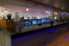 Luxurious bar restaurant in London Hotel stock photography