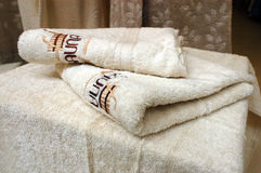 Luxurious bath towels Royalty Free Stock Photography