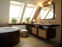 Luxurious bathroom. Inside of luxurious bathroom in a modern house royalty free stock photography
