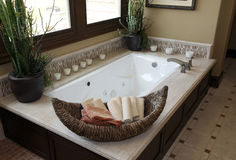 Luxurious bathroom Royalty Free Stock Images