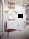 Luxurious bathroom in classic style Royalty Free Stock Photography