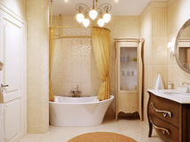 Luxurious bathroom interior design in classic style Royalty Free Stock Image