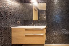 Luxurious bathroom in modern apartment. Nobody inside royalty free stock photos
