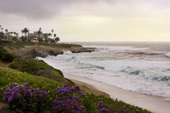 Luxurious beach front home in San Diego Royalty Free Stock Photography