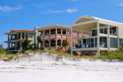 Luxurious Beach Front Homes Stock Images