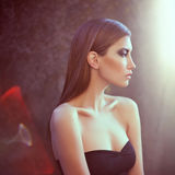 Luxurious beautiful woman with ideal skin. In bright light Stock Photos