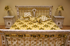 Luxurious bed Royalty Free Stock Photo