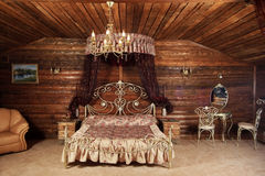 Luxurious bed Royalty Free Stock Photos