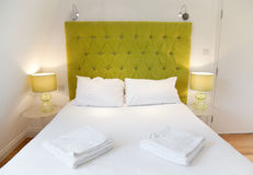 Luxurious bed design Royalty Free Stock Images