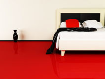Luxurious bed in the interior Royalty Free Stock Images