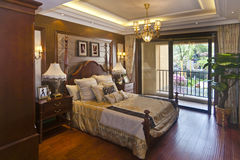 Luxurious bedroom apartments Stock Photography