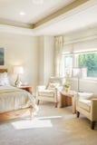 Luxurious Bedroom Detail. Bedroom in luxury home stock images
