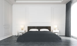 Luxurious bedroom front Royalty Free Stock Photo