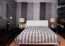 A luxurious bedroom interior Royalty Free Stock Photos
