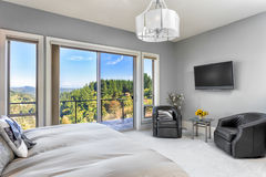 Luxurious Bedroom in New Home Stock Photography