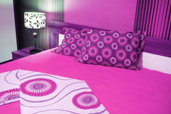 Luxurious bedroom in pink Royalty Free Stock Photo