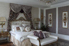 Luxurious bedroom Royalty Free Stock Image