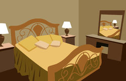 Luxurious bedroom vector. The new luxurious bedroom vector Stock Photo