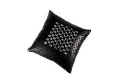 Luxurious Black Pillow Royalty Free Stock Photography