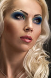 Fashion Makeup blue Royalty Free Stock Image
