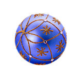 Luxurious blue christmas ball Stock Photography