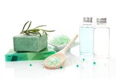 Luxurious body care products. Stock Images