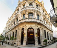 Luxurious Building Facade In Old Havana, Cuba Stock Photos