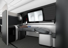 Luxurious business class interior. 3D rendering image in original design Stock Photos