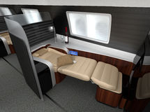 Luxurious business class interior. 3D rendering image in original design Stock Photo