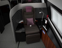 Luxurious business class interior. 3D rendering image in original design Royalty Free Stock Images