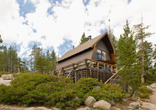 Luxurious cabin in forest royalty free stock photos