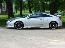 Luxurious car. A luxurious silver car outside Royalty Free Stock Photos