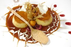 Luxurious caramel dessert Royalty Free Stock Images