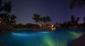 Luxurious Caribbean resort at night Stock Photography