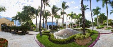 Luxurious Caribbean resort Stock Images